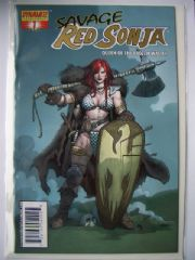 Savage Red Sonja #1 Frank Cho Gold Foil Variant